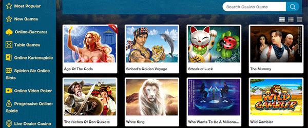 Europlay Casino Spiele Angebot