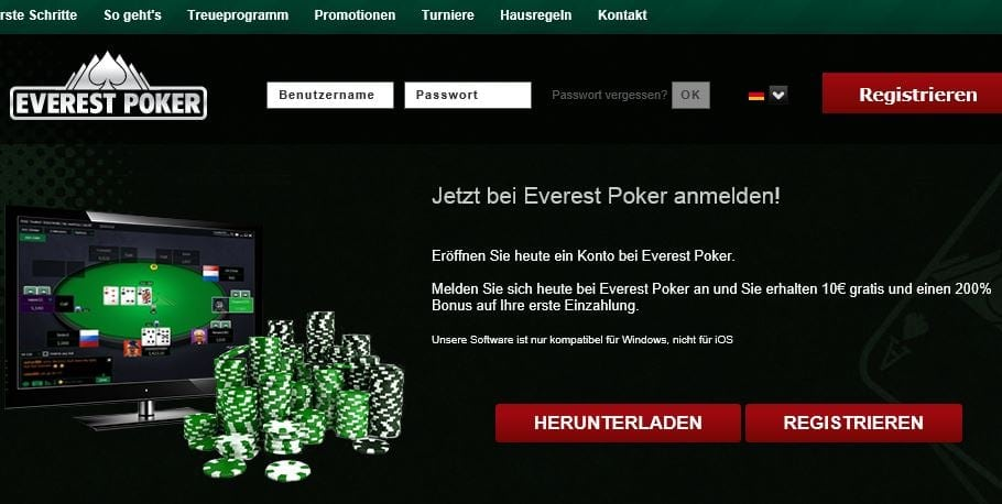 Everest Poker Betrug oder seriös