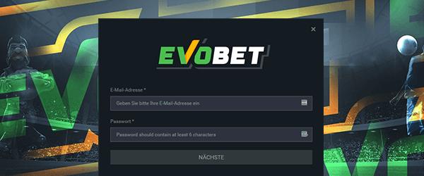 Evobet Casino Registrierung