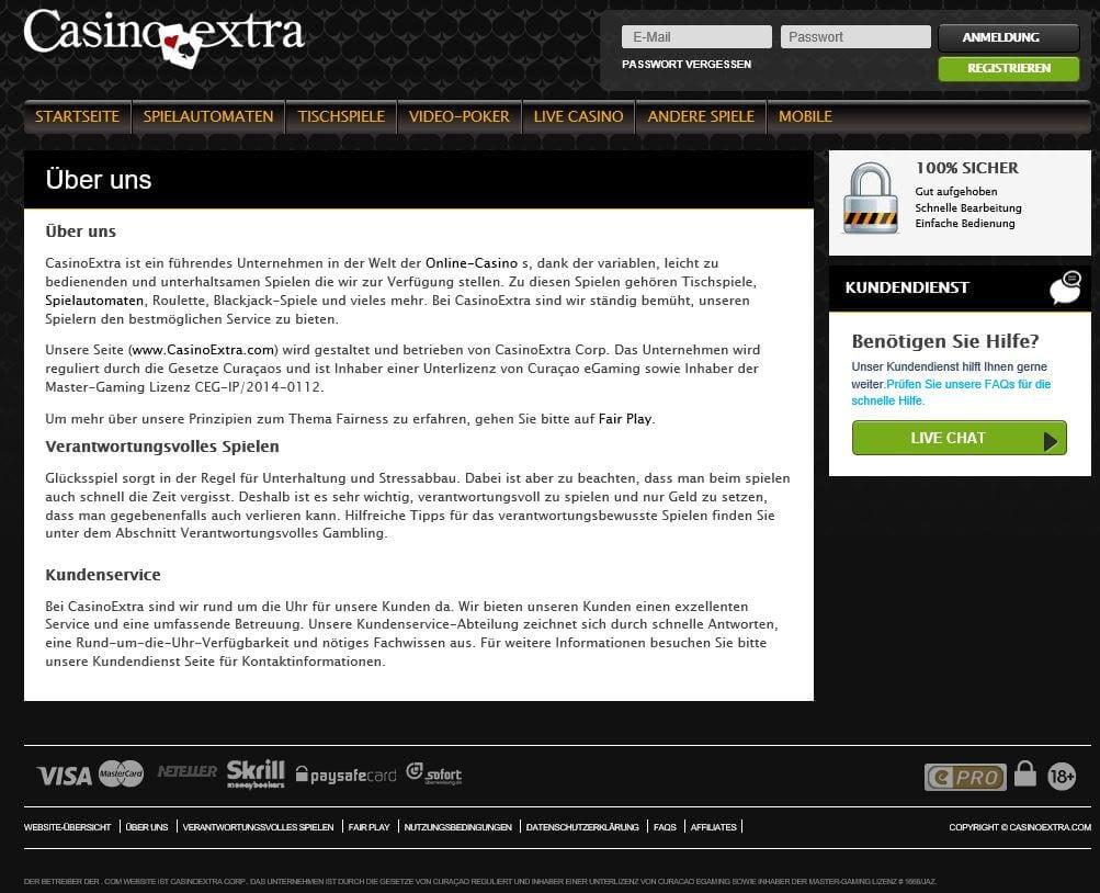 Lizenzen & Zertifikate von Casino Extra sorgen für Sicherheit