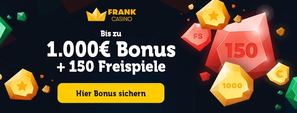 Frank Casino Bonus für Neukunden