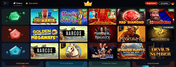 Frank Casino Spiele