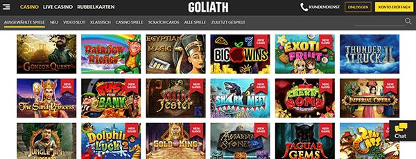 Goliath Casino Spiele