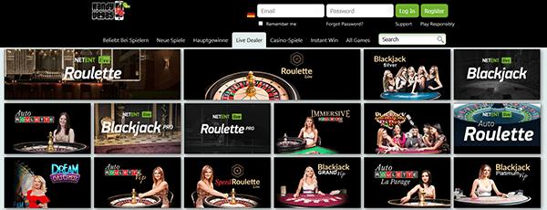 Handy Vegas Casino Livespiele