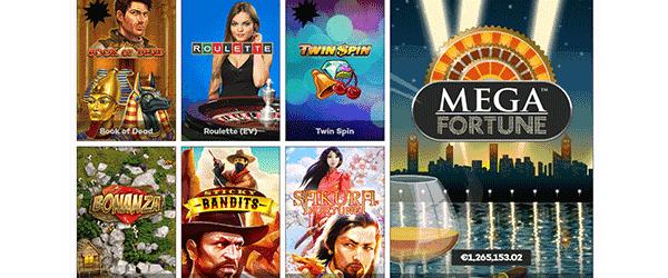 highroller.com Casino Spiele Angebot