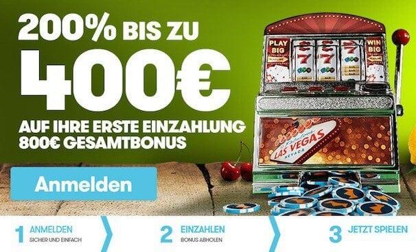 200% bis 400€ Bonus bei Intercasino