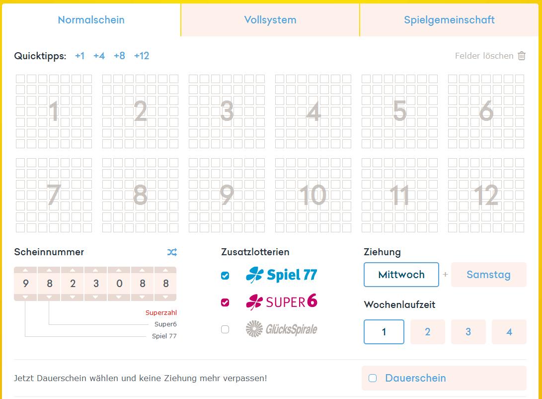 Die Homepage von Jumbolotto.de