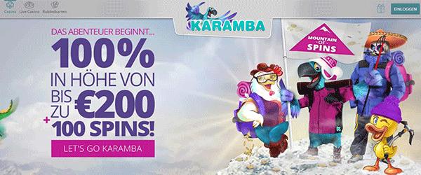 Karamba Bonus mit Freispielen