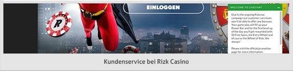 Rizk Casino Support