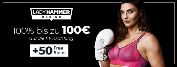 Lady Hammer Casino Bonus