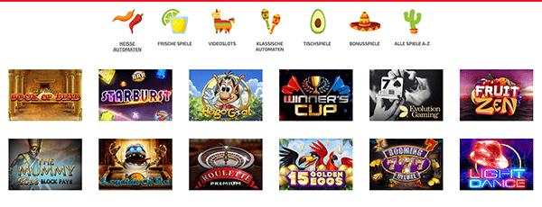 La Fiesta Casino Spiele