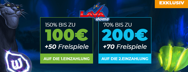 Lavadome Casino Bonus