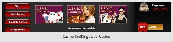 Live Casino RedKings