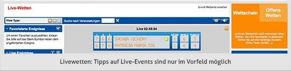 IronBet Livewetten
