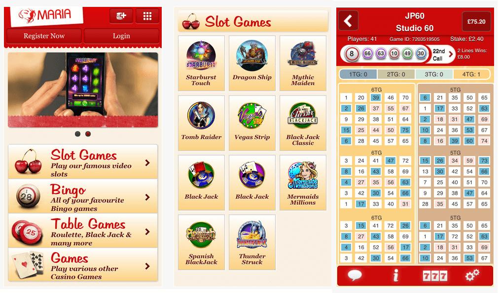 Die App von Maria Bingo