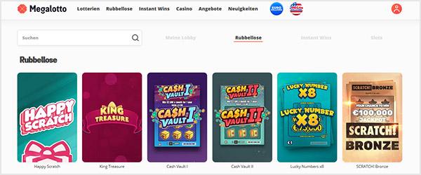 Megalotto Casino Rubbellose