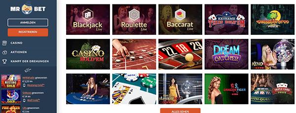 Mr Bet Live Casino