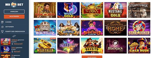 Mr Bet Casino Spiele