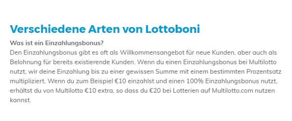 Multilotto Bonus