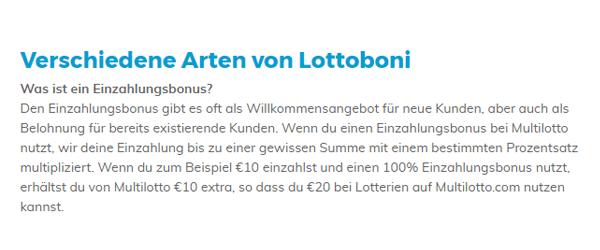 Multilotto Bonus