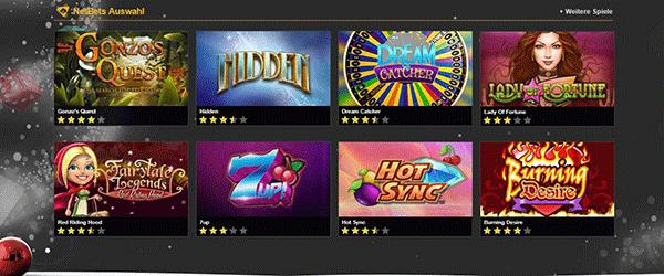 NetBet Casino Spiele Angebot