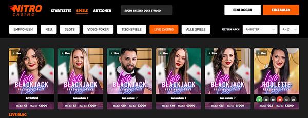 Nitro Casino Livecasino