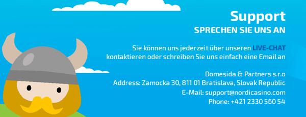 Nordicasino Kundenservice