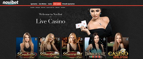 Novibet Casino Live Casino