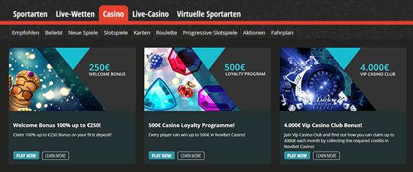 Novibet Casino Promotion