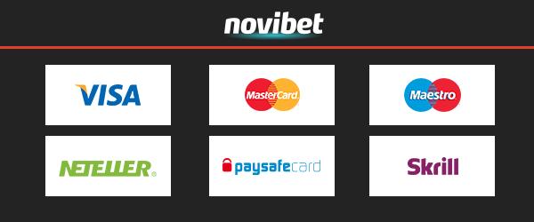 Novibet Casino Zahlungsmethoden