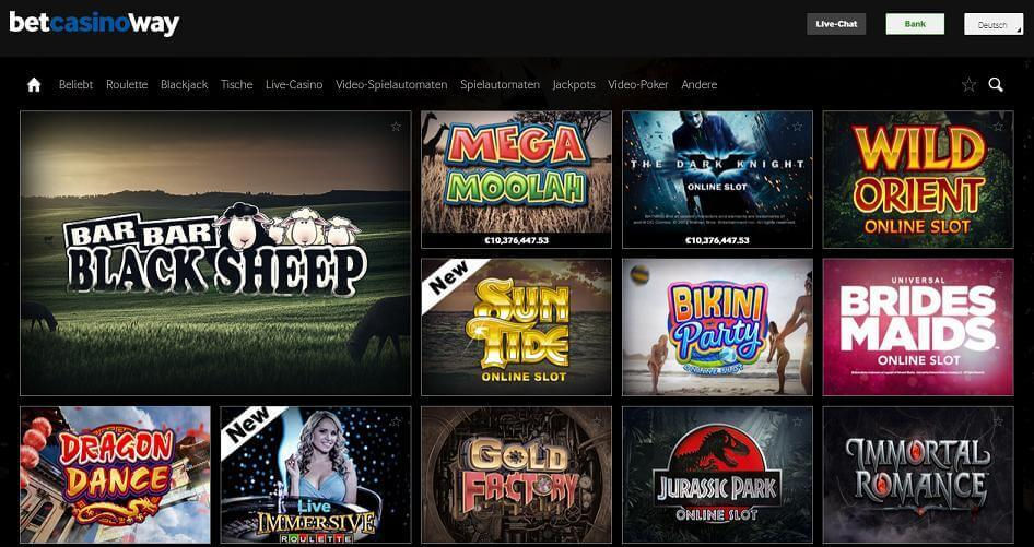 Gutes Casino Angebot bei betway