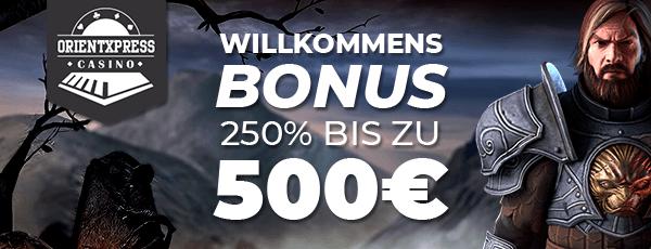 OrientXPress Casino Bonus