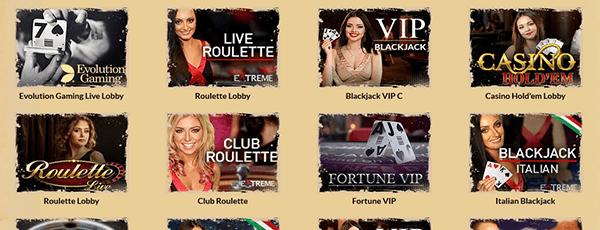 OrientXPress Casino Livespiele