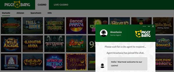 Piggy Bang Casino Service