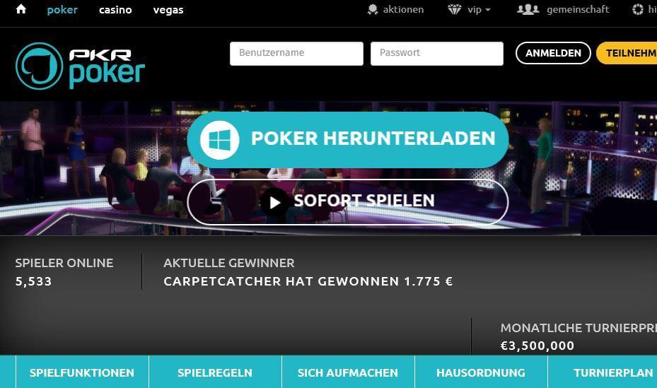 PKR Poker Betrug oder seriös auf pkr.com