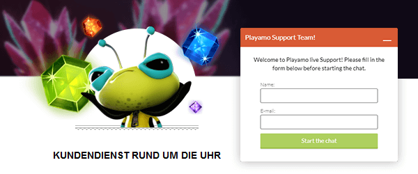 PlayAmo Casino Support
