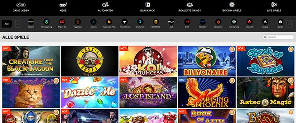 PlayAmo Casino Spiele