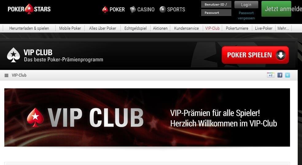 PokerStars Stammkundenprogramm mit VIP-Punkten