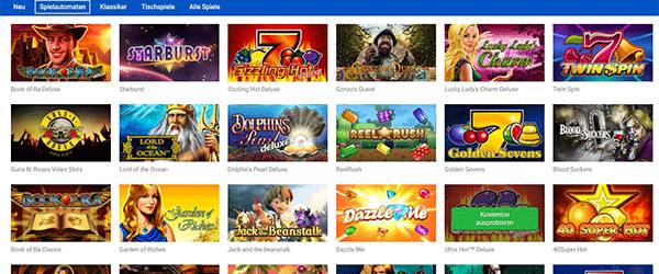 Quasar Gaming Spiele Angebot