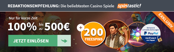 Spintastic Bonus Angebot