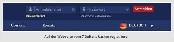 7 Sultans Casino Registrierung