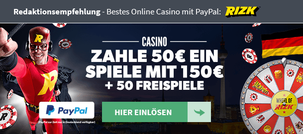 Rizk Casino PayPal Empfehlung