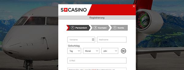 SCasino Registrierung