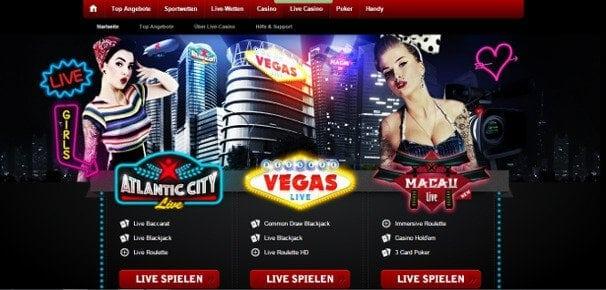 Das attraktive Live-Casino bietet eine große Auswahl an Spielen