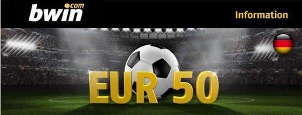 Neue Kunden erhalten einen 100% bis 50€ Bonus auf die erste Einzahlung