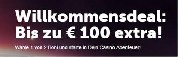 Neue Kunden erhalten neben dem 7€ No-Deposit Bonus eine Matchprämie von bis zu 100€