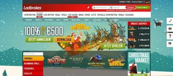 Im attraktiven Casino Bereich wartet ein Bonus von bis zu 500€ auf Sie
