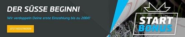 Neue Kunden erhalten einen 100%igen Matchbonus von bis zu 200 Euro
