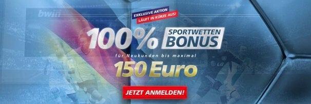 Neue Kunden erhalten einen 100% bis 150€ Bonus auf die erste Einzahlung