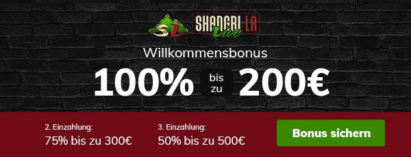 Shangri La Live Casino Bonus